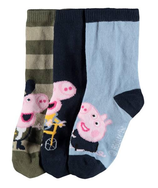 Bilde av MmmPeppapig Jannik 3p socks - Dusty Blue