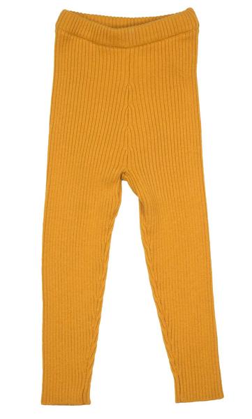 Bilde av MeMini Patent Legging - apricot yellow