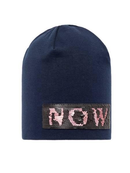Bilde av NkfMoppy flip sequins hat - dark sapphire