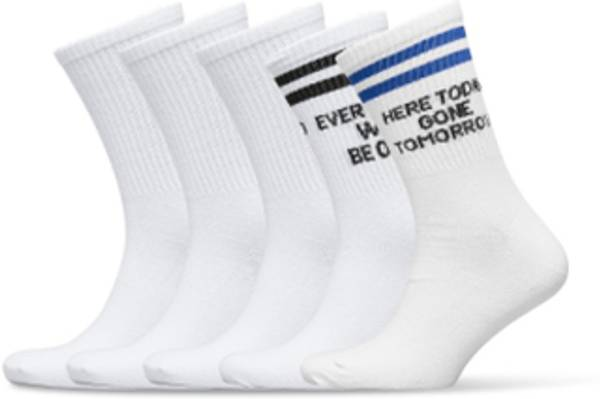 Bilde av Jactext tennis sock 5 pack jr - White