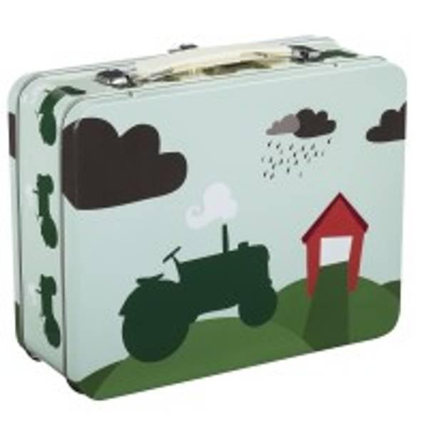 Bilde av Blafre Koffertboks, Traktor og låve - Grønn