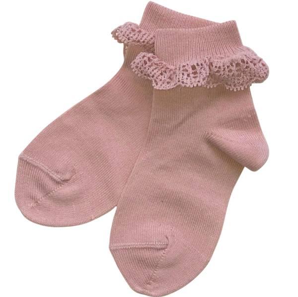 Bilde av Cóndor sokker med blondekant - Mauvet