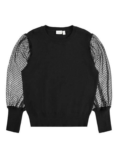 Bilde av Name It nkfsarianne ls knit - black
