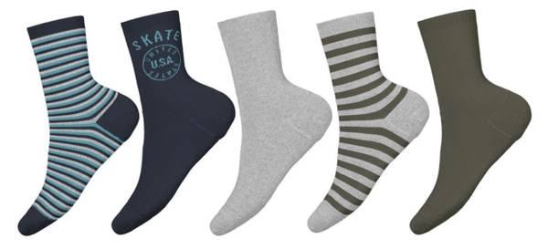 Bilde av NmmVagn 5p sock - Grey Melange