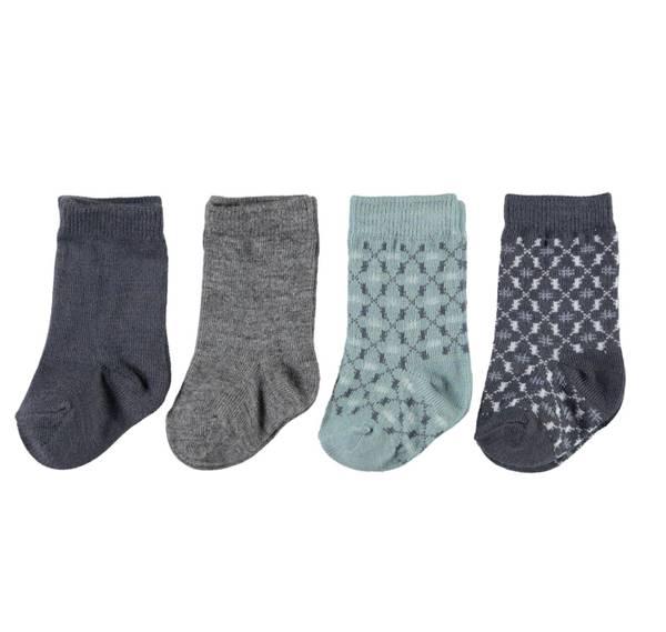 Bilde av NbmWak wool 4 pack sock - Ombre Blue