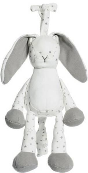 Bilde av Diinglisar organic Spilledåse kanin - hvit/grå