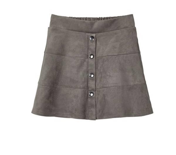Bilde av Name It nkfsargin skirt - granite grey