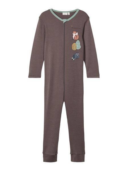 Bilde av Name It nmmwillit wool ls suit - Plum Kitten