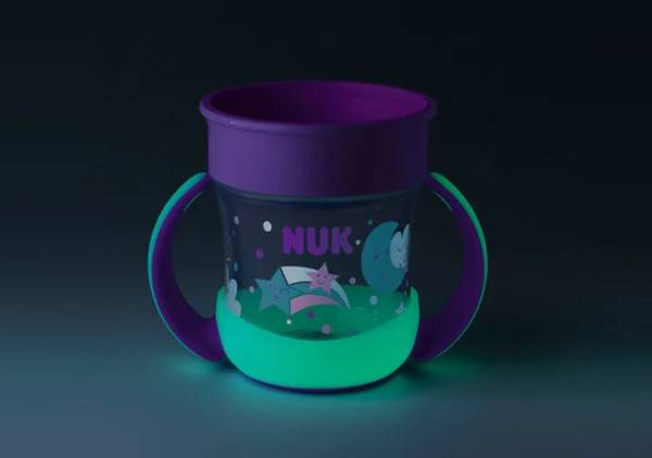 Bilde av NUK, Evolution Mini Magic Cup, Glow In The Dark -