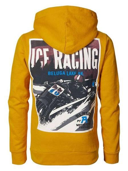 Bilde av Petrol Hoodie Racingprint - Gold