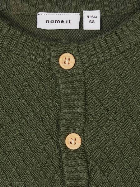 Bilde av Nbmomalle ls knit cardigan - Thyme