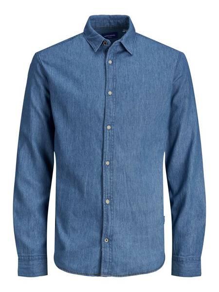 Bilde av JorHarold Shirt ls JR - Dark Blue Denim