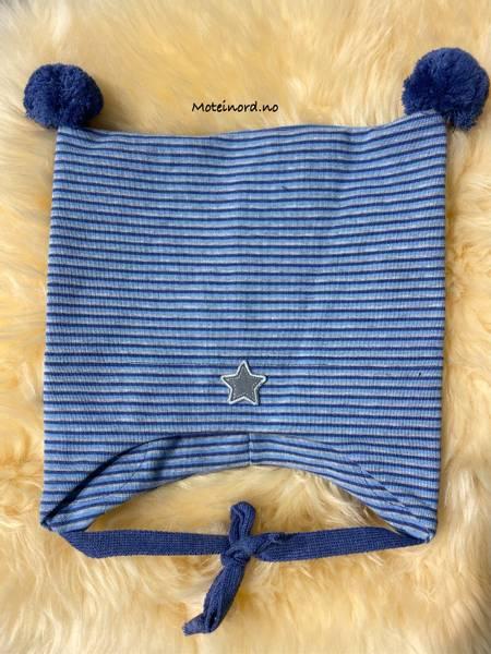 Bilde av Kivat bomullslue blåstripete, stjerne og to
