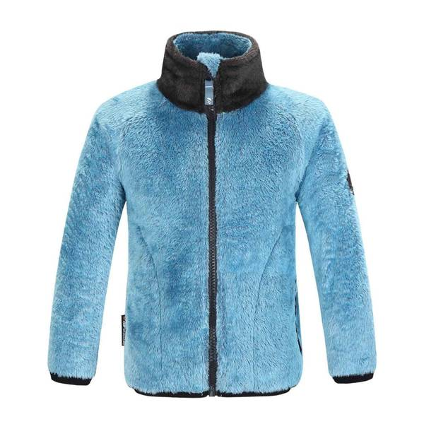 Bilde av Småvotna fleece jakke.- Malibu Blue