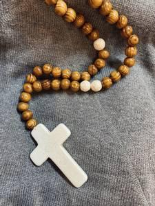 Bilde av Cross/Wood Necklace