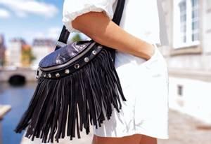 Bilde av Fringe Leather Bum Bag