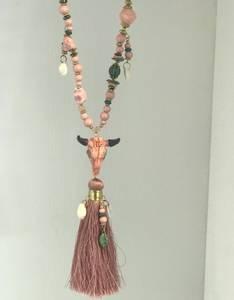 Bilde av Bull Charms Tassel Necklace