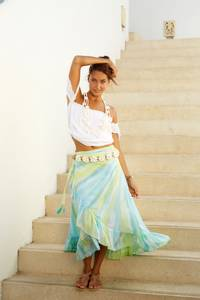 Bilde av Wrap Skirt Long Hot Lava