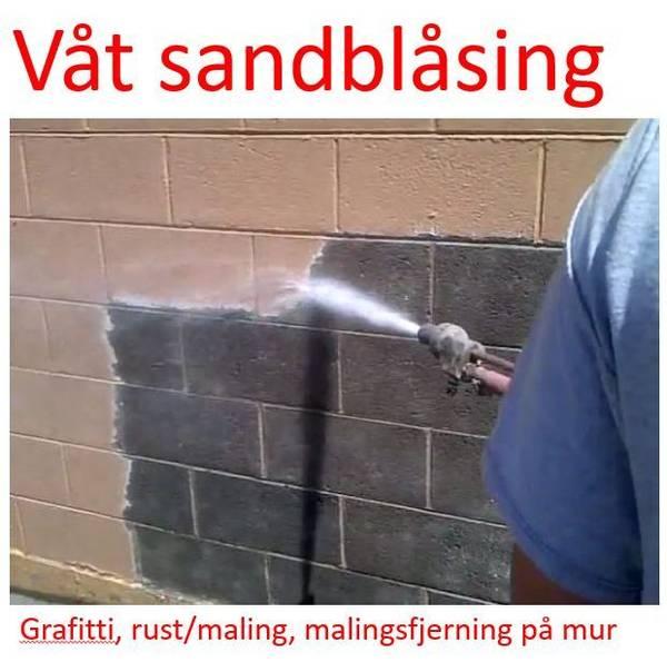 Sandblåser - våtsandblåsing for høytrykkslanse