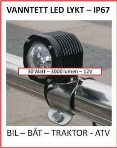 Bilde av 12V LED lykt m/brakett