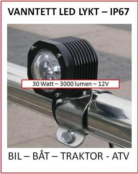 12V LED lykt m/brakett