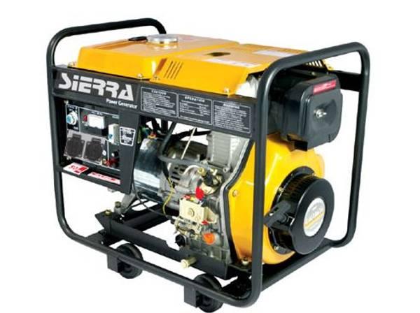 UTSOLGT Dieselaggregat 6000Watt - 1 fas 230V