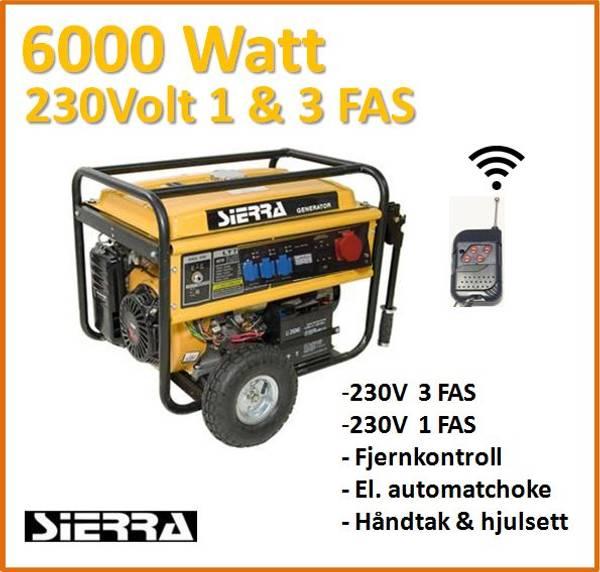 6000W 1 & 3-Fas 230V