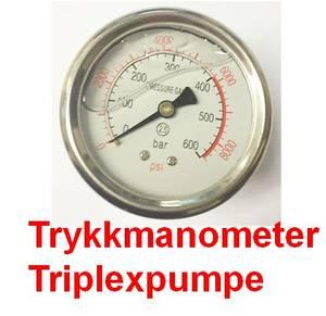 Bilde av Trykkmanometer triplexpumpe