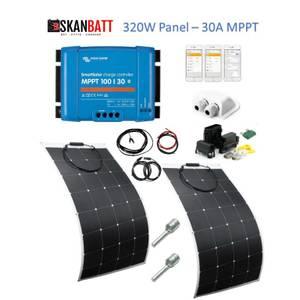 Bilde av SKANBATT 146x54 - 320W Flexi komplett kit med