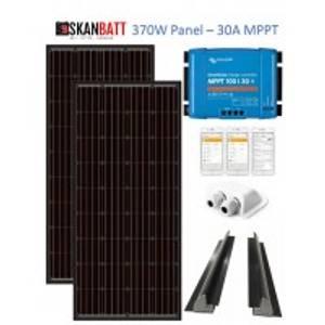 Bilde av SKANBATT Solcellepakke Bobil 370W