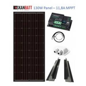 Bilde av SKANBATT Solcellepakke Bobil (Schaudt EBL) 130W