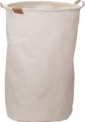 Bilde av Oppbevaringskurv i tekstil rund beige