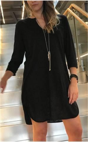 Bilde av Linkjole med jersey underkjole sort