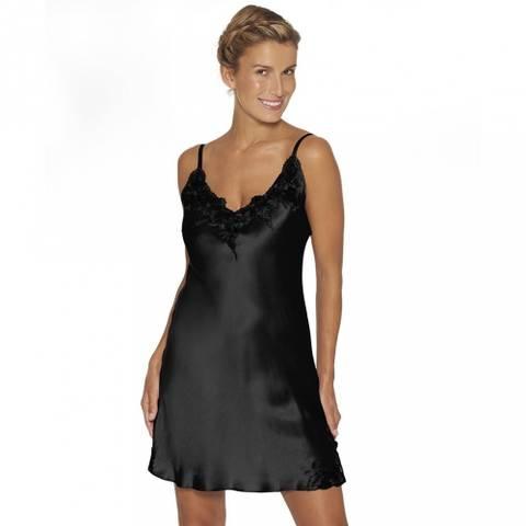 Bilde av Slip de luxe ren silke sort
