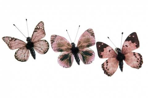 Bilde av Nellie sommerfugl brunrosa mix