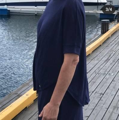 Bilde av Topp med splitt i ryggen navy