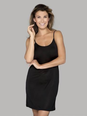 Bilde av Jersey slip kjole silke sort