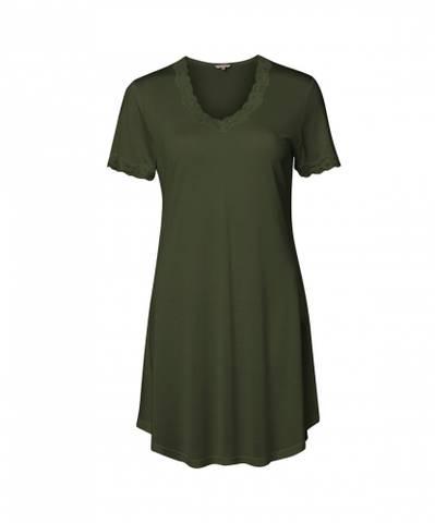 Bilde av Nattkjole med korte ermer silke Forrest green