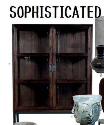 Bilde av Sitra vitrineskap sort/brun