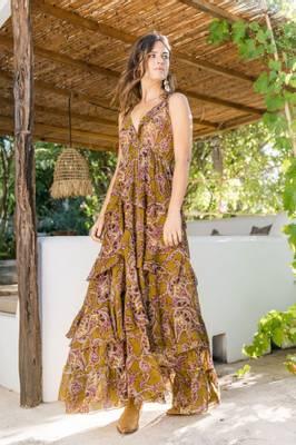 Bilde av Tanzanite kjole kaki Miss June