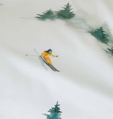 Bilde av Elegante Abfahrt / ski sengesett