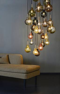 Bilde av Lampe Krystallkule Kryss varmgul