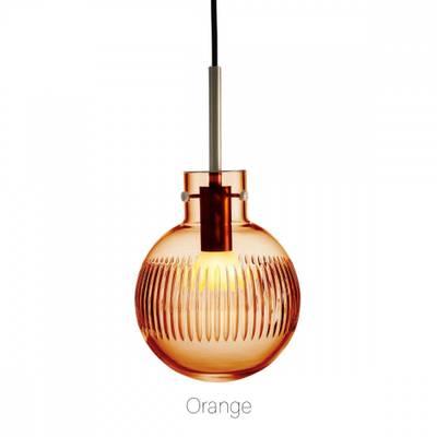 Bilde av Lampe Krystallkule Optikk oransje