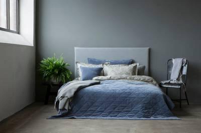 Bilde av Ana sengeteppe dusty blue