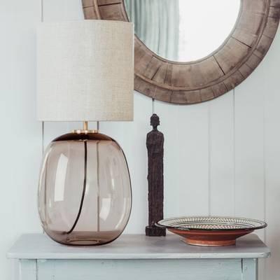 Bilde av Austra bordlampe kakao 30 x35 gul