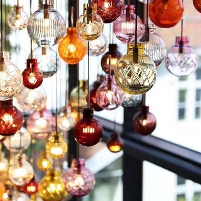 Bilde av Lampe Krystallkule Finn oliven