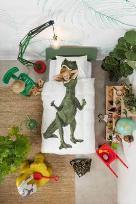 Bilde av Snurk Dino sengesett