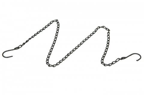 Bilde av Kjede med to kroker sort
