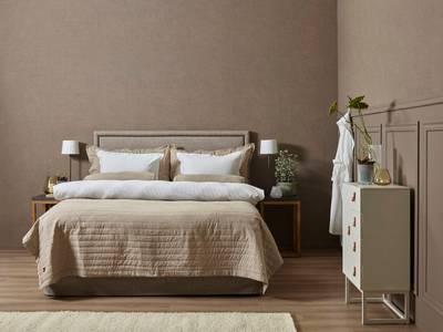 Bilde av HB Oliver linnen sengeteppe