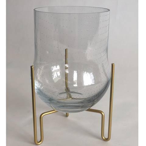 Bilde av Vase clear bubble w/pedestal